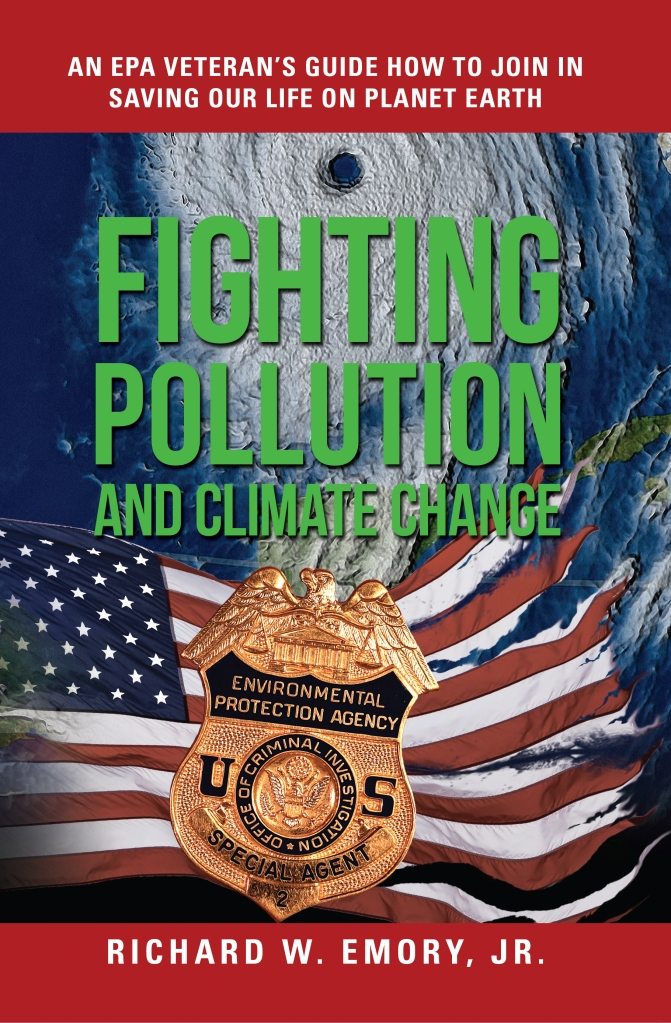 Book cover showing an EPA badge and an American flag.